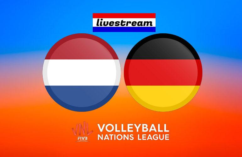 Livestream Nederland - Duitsland Volleybal Nations League