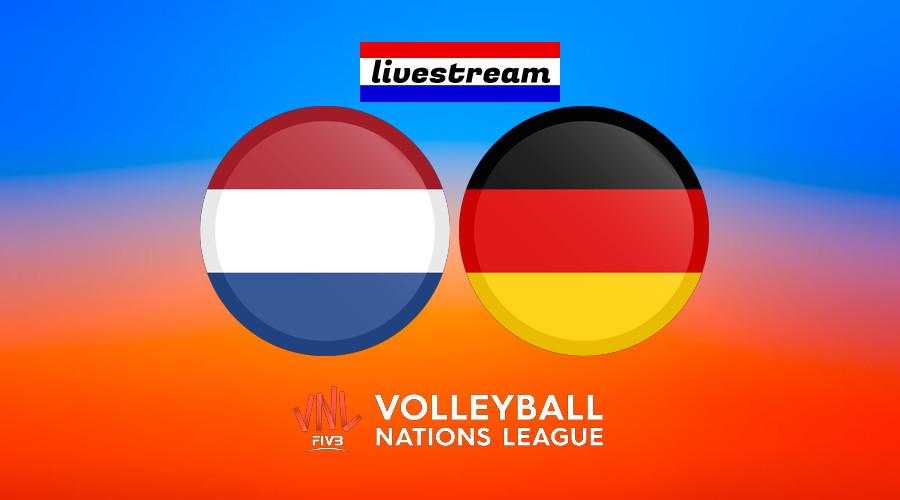 Livestream Nederland – Duitsland Volleybal Nations League