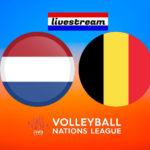 Livestream Nederland - België Volleybal Nations League