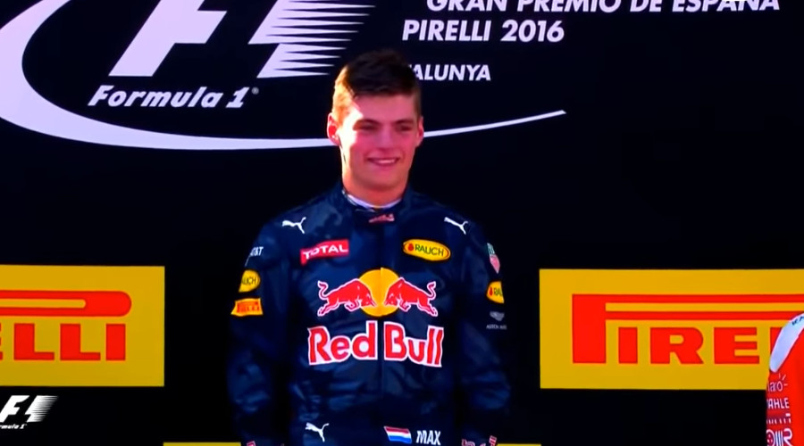 Max Verstappen won in 2016 de Grand Prix van Spanje