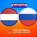 Nederland - Rusland livestream Volleybal Nations League