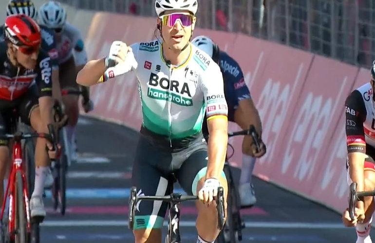 Sagan sprint naar etappezege in de Giro