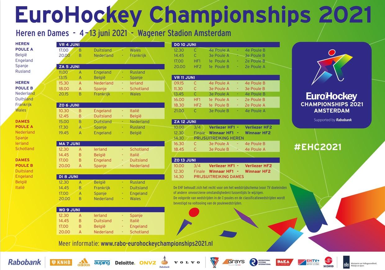 Programma EK Hockey 2021 Amsterdam