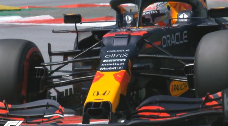 Verstappen naar P2 in GP van Spanje