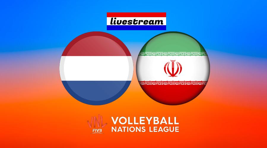 Volleybal live stream Nederland - Iran