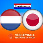 Volleybal live stream Nederland - Japan
