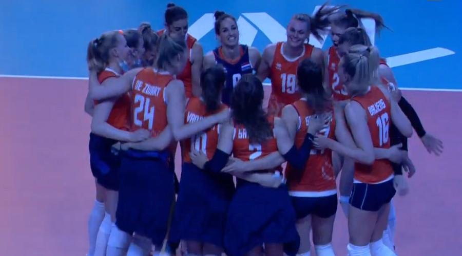 Volleybalsters voortvarend van start in Nations League