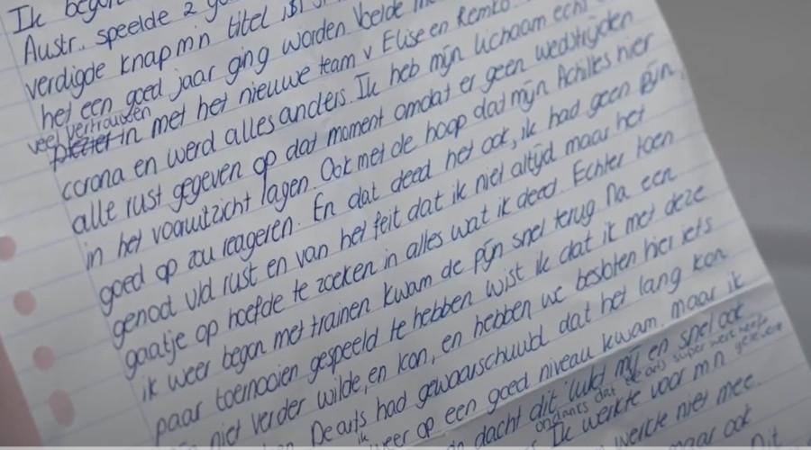 Brief Kiki Bertens