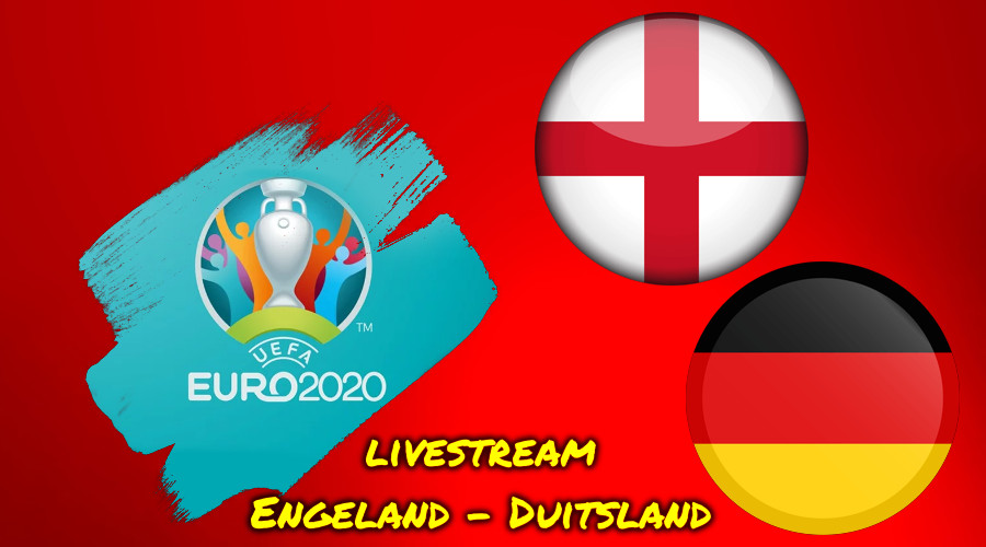 Euro 2020 live stream Engeland - Duitsland