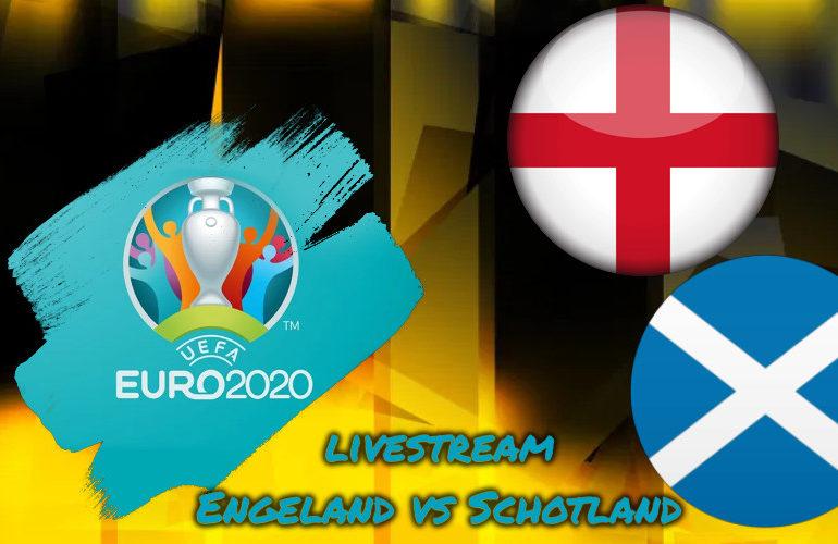 Euro 2020 live stream Engeland - Schotland