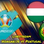 Euro 2020 live stream Hongarije vs Portugal