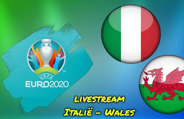 Euro 2020 live stream Italië - Wales