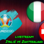Euro 2020 live stream Italië vs Zwitserland