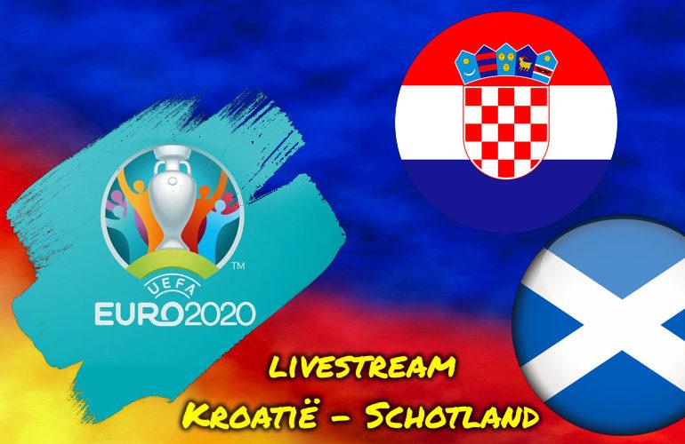 Euro 2020 live stream Kroatië - Schotland