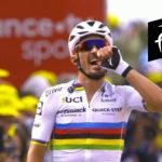 Julian Alaphilippe wint chaotische eerste etappe in de Tour