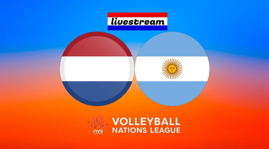 Live stream Volleybal Nations League Nederland - Argentinië