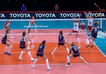 Volleybalsters knokken zich langs Polen