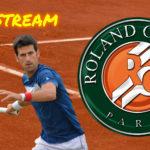Roland Garros live stream Novak Djokovic - Ricardas Berankis