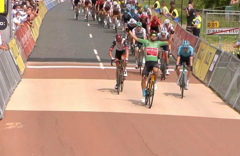 Colbrelli sprint naar etappezege in Dauphiné