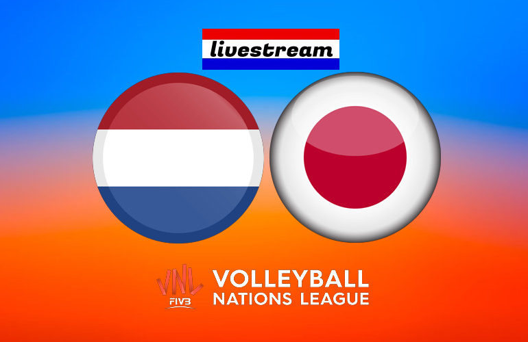 Volleybal Nations League live stream Nederland - Japan