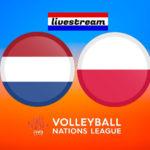Volleybal Nations League live stream Nederland - Polen