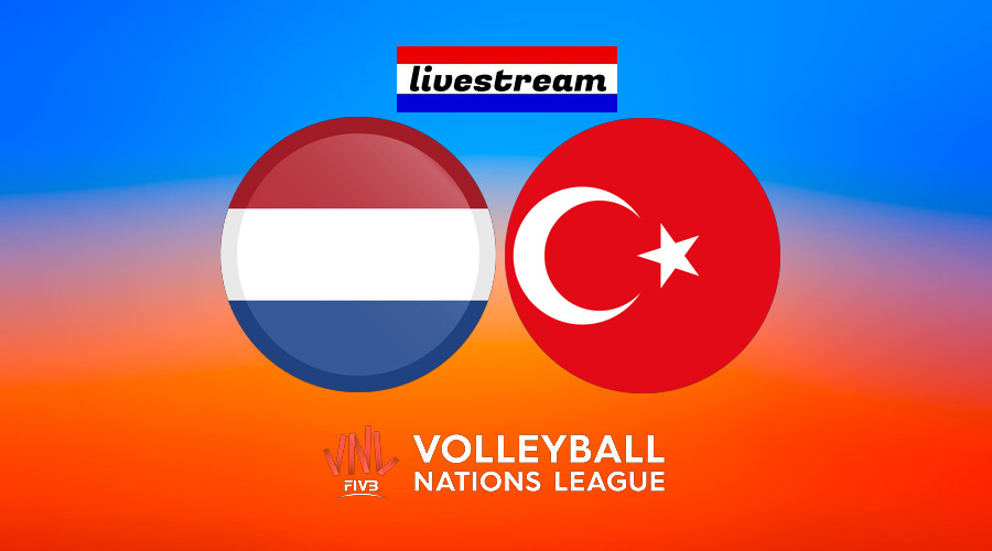 Volleybal Nations League live stream Nederland - Turkije