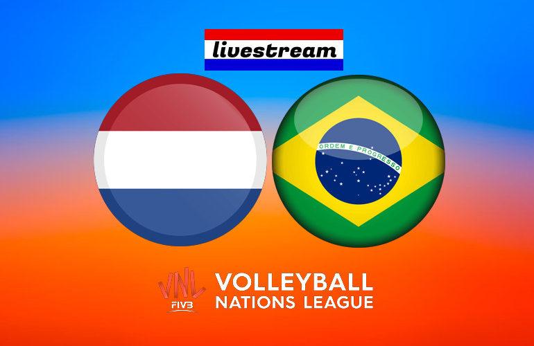 Volleybal live stream Nederland - Brazilië