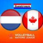 Volleybal live stream Nederland - Canada