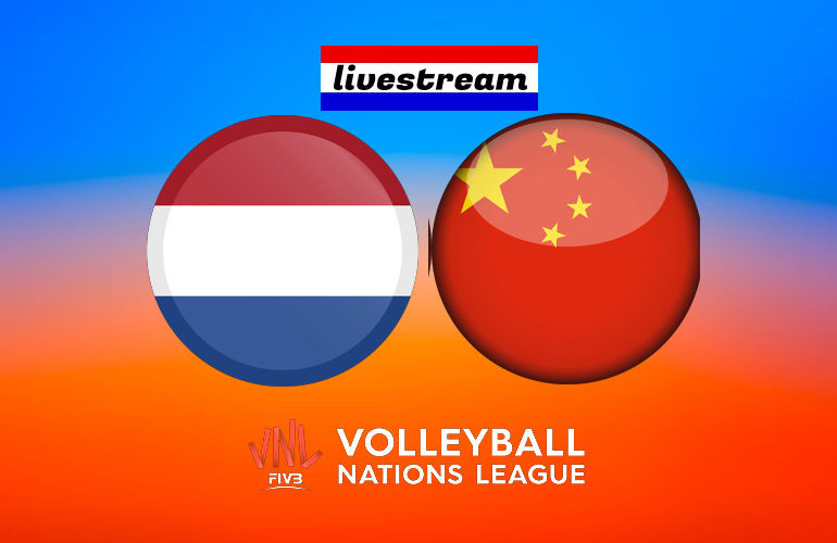 Volleybal live stream Nederland - China