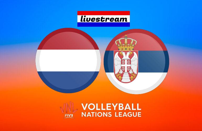 Volleybal live stream Nederland - Servië