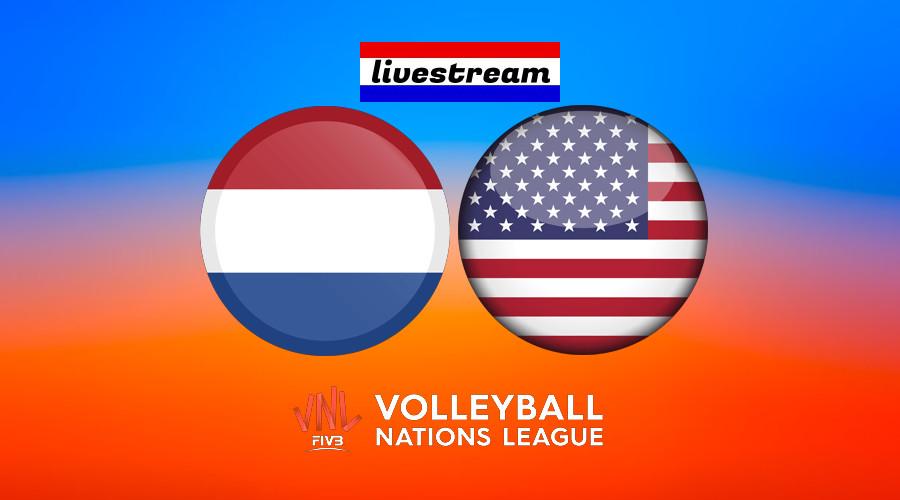 Volleybal live stream Nederland - Verenigde Staten