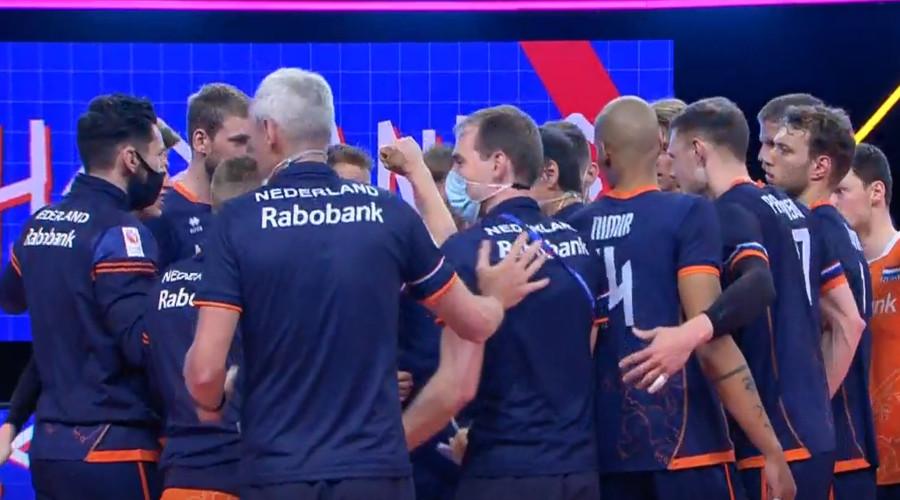 Volleyballers winnen met 3-2 van Duitsland