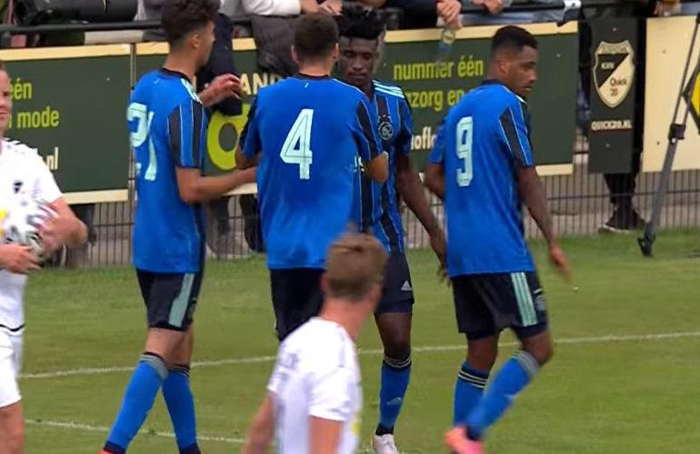 Ajax speelt met 1-1 gelijk tegen Quick'20