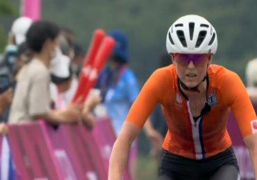 Anne Terpstra vijfde bij het mountainbiken