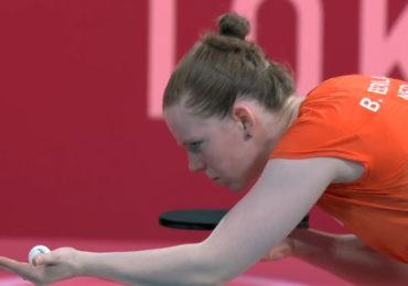 Britt Eerland in achtste finale onderuit