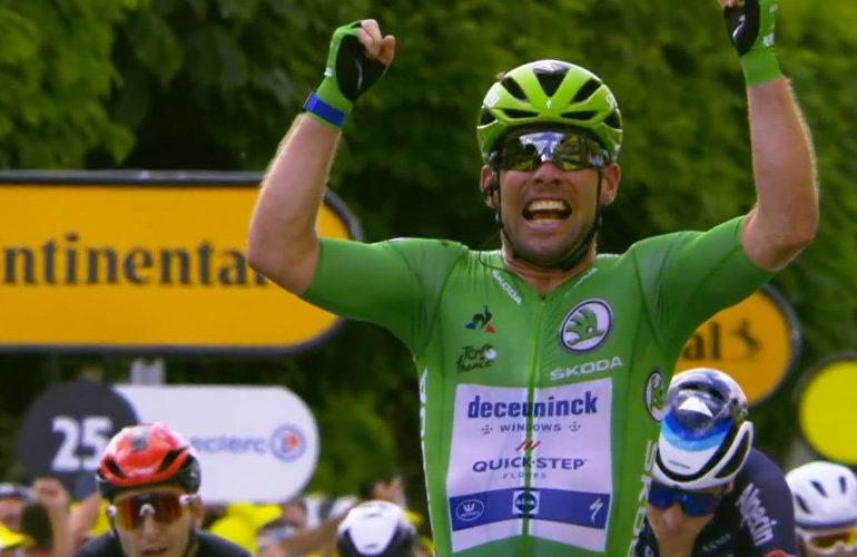 Cavendish sprint naar etappezege in Châteauroux