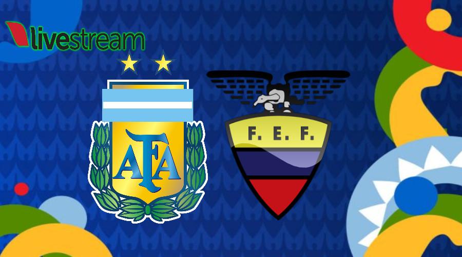 Copa América live stream Argentinië - Ecuador