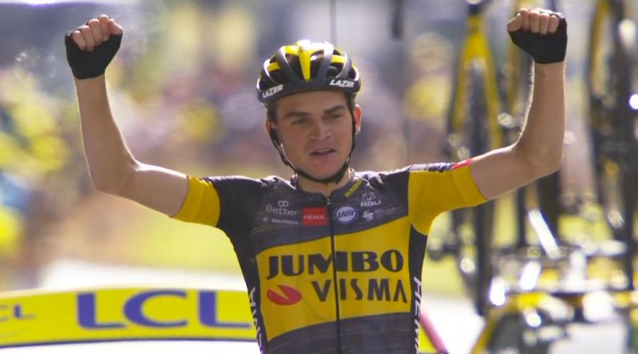Kuss wint vijftiende etappe, Poels herovert bollentrui