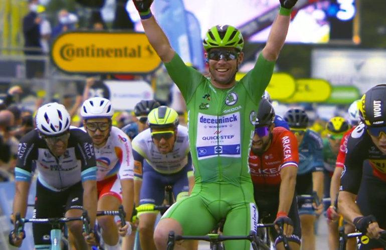 Cavendish sprint naar derde etappezege in de Tour