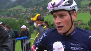 Mathieu van der Poel (Screenshot Sporza/NOS)