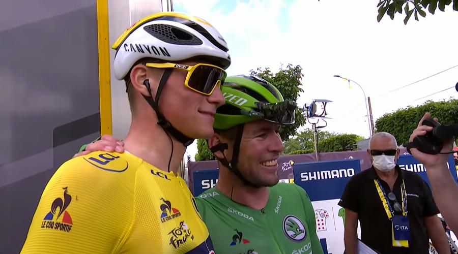 Mathieu van der Poel en Mark Cavendish