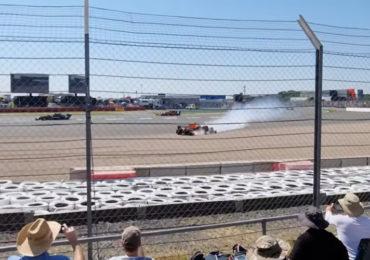 Crash Verstappen op Silverstone van dichtbij