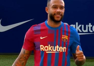 Memphis scoort bij debuut voor FC Barcelona