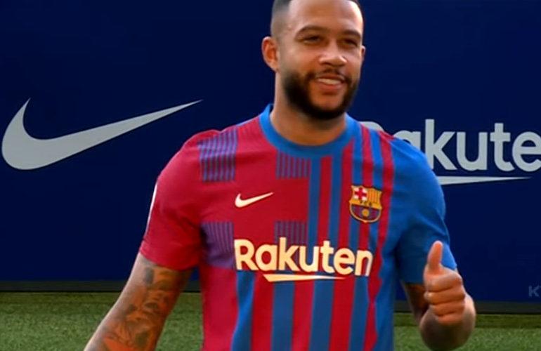 FC Barcelona presenteert Memphis Depay