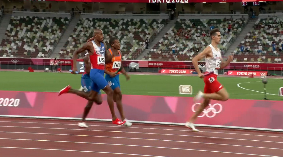 Nederland grijpt net naast medaille op gemengde 4x400