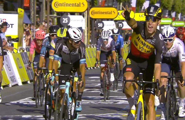 Pogacar wint de Tour, van Aert laatste etappe