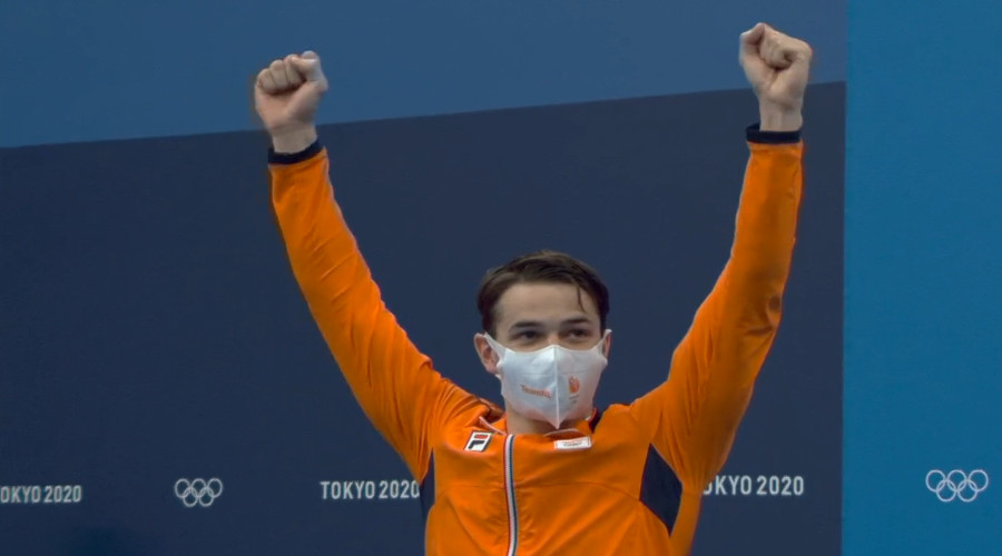 Zilver Arno Kamminga op 100 meter schoolslag