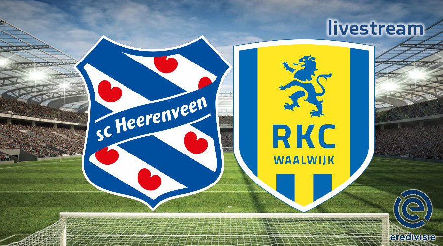 Eredivisie live stream SC Heerenveen - RKC Waalwijk