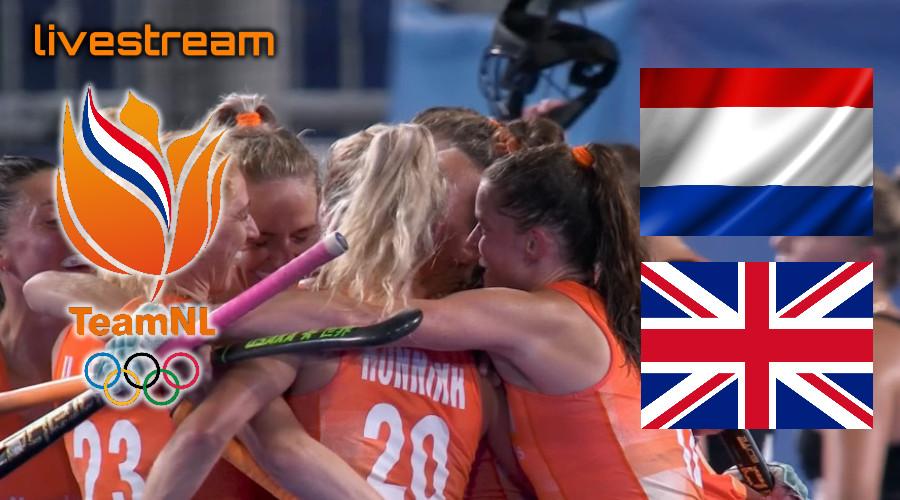 Hockey live stream Nederland - Groot-Brittannië Olympische Spelen