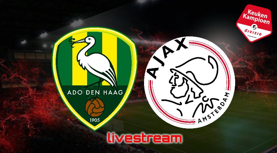 KKD live stream ADO Den Haag - Jong Ajax